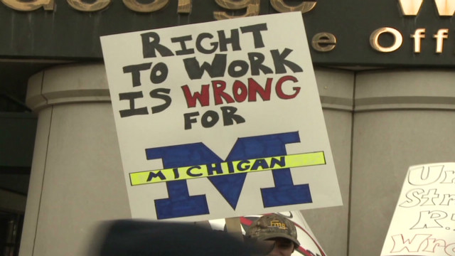 Michigan's fight over 'right-to-work'