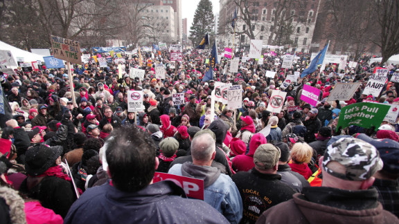 Michigan, birthplace of the United Auto Workers and where 17.5% of employees are represented by unions, is by far the most heavily unionized state to pass such legislation.