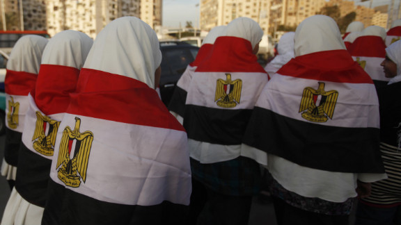 Girls walk with Egypt