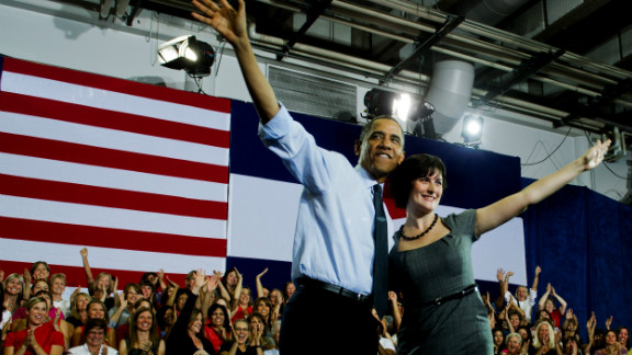 """Sandra Fluke is the Georgetown University Law School student who testified before Congress on the need for access to reproductive health care, including contraception. Conservative talk show host Rush Limbaugh called her a """"slut."""" Fluke campaigned for President Barack Obama and spoke at the Democratic convention on women's rights."""