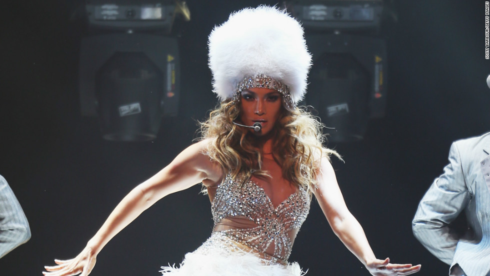 Jennifer Lopez rocks the stage as she performs in Melbourne, Australia on December 11.