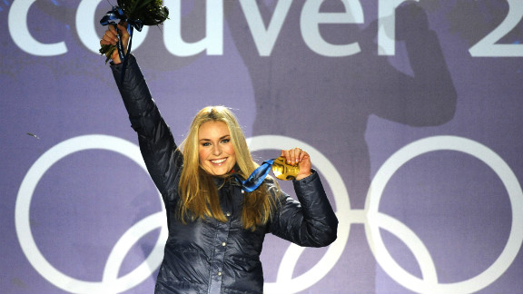 """Vonn's only Olympic gold medal to date came in the downhill competition at the 2010 Winter Olympics in Vancouver.  """"Seeing my name and the number one next to it was the best feeling I've had in my life,"""" she told reporters."""