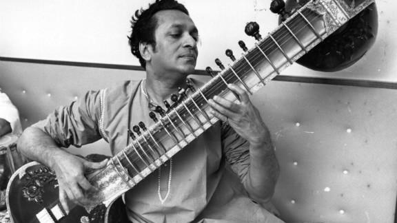 Shankar plays his sitar in 1966.