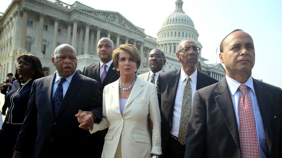 """Eric Holder became the first sitting U.S. attorney general to be held in contempt of Congress for refusing to turn over certain documents sought by Republicans in their investigation of the botched Arizona-to-Mexico gun-running sting known as """"Fast and Furious."""" Democrats, including members of the Congressional Black Caucus, walked out in protest during the House contempt vote in June."""