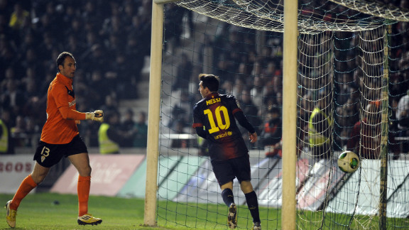 Leo Messi took his tally to 88 for 2012 after netting twice in Barcelona