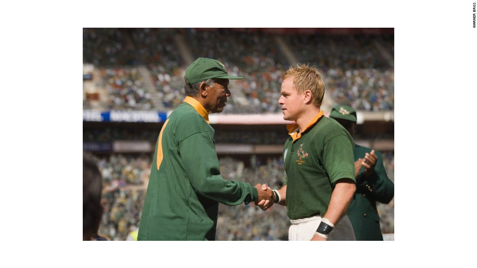 """Invictus"" is an uplifting historical drama about South Africa's bid to win the Rugby World Cup in 1995. The movie was directed by Clint Eastwood and featured Morgan Freeman and Matt Damon."