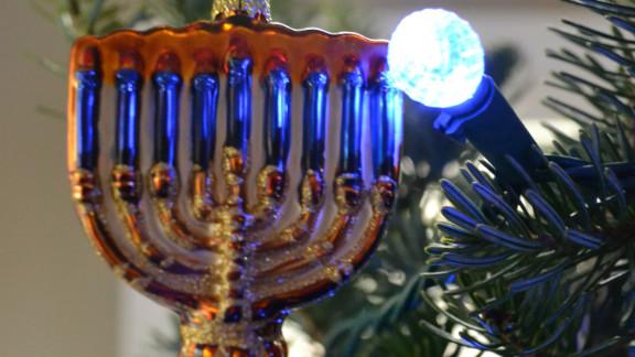Christmas Hannukah Stocking Menorah