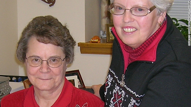 Sister Helen Skormisley, right.