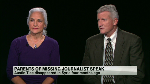 Parents of missing journalist speak out