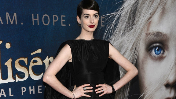 """Anne Hathaway had an incident at the New York premiere of her new film, """"Les Misérables."""""""