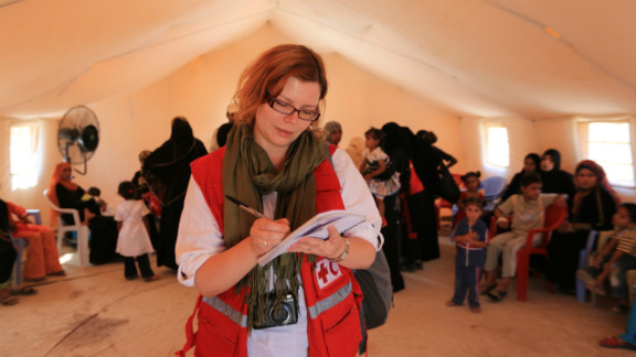 Gradually, after explaining the position of the Red Cross Red Crescent as a neutral, non-religious humanitarian agency, it has been possible to gain people