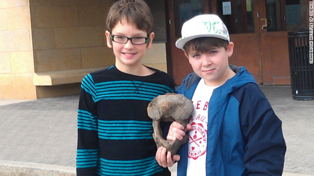 Kids discover ancient beast's bone
