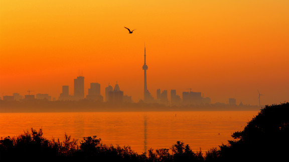 """Searing temperatures and high humidity brought a heat wave to Toronto, Canada, in July. """"These past days have been brutal with the heat, the humidity. Tempers are short, electricity system is straining but not buckling... yet,"""" photographer David Bradley told us at the time."""