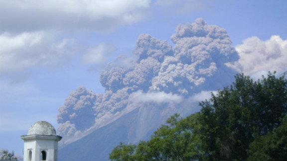 """Fuego Volcano spewed ash into the air in Antigua, Guatemala, shortly after it erupted in September. Photographer Jennifer Rowe said, """"People who have lived here for more than 20 years have told me this is the biggest eruption they"""