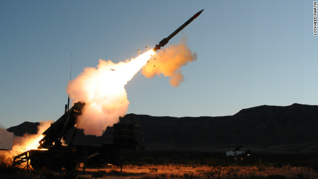 A patriot missile is launched