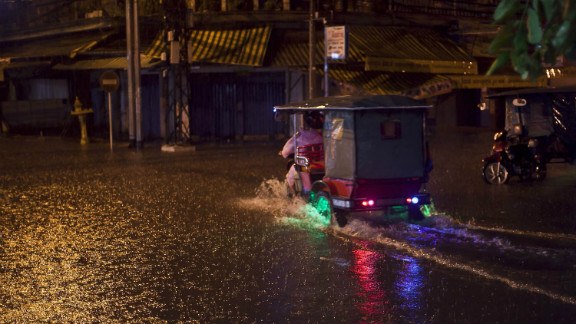 Phnom Penh, Cambodia was hit with a torrential downpour of rain in October, causing flash flooding. Jim Heston was in awe of the fact that his camera was able to capture falling rain as well as it did.