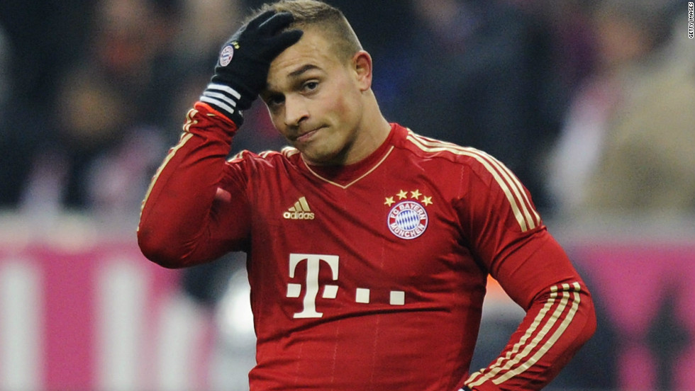 Xherdan Shaqiri scored Bayern Munich's second-half equalizer after coming on as a first-half substitute, but the Switzerland international's first Bundesliga goal was not enough to secure a new league record.