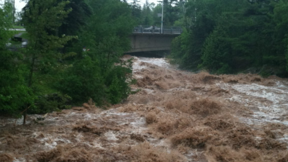 """Severe flooding in <a href=""""http://ireport.cnn.com/docs/DOC-805110"""">Duluth, Minnesota</a>, in June destroyed roads and left neighborhoods underwater. """"We have not experienced anything like this in our community,"""" said photographer and healthcare preparedness coordinator Kayla Keigley. """"Roads are destroyed. Neighborhoods are underwater. I am in shock and I work in the field of preparedness - this is something I work to deal with daily. Our community is in disbelief."""""""