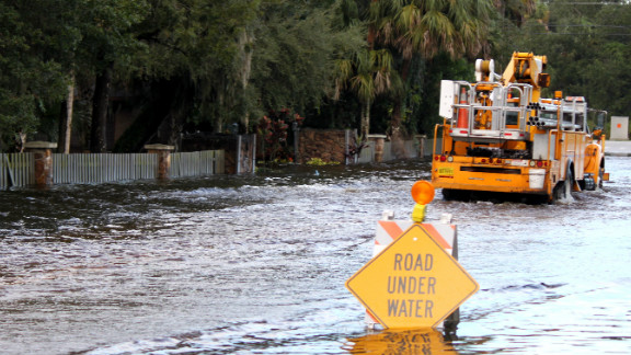 """Hurricane Isaac brought flooding to the streets of Fort Pierce, Florida in August. Trish Powers described the water as """"waist deep"""" at times. See more Isaac images here."""