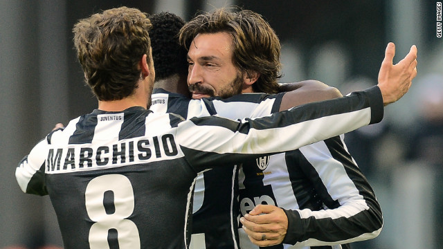 Andrea Pirlo was on target as Juventus stretched its advantage at the top of Serie A with a 3-0 win over Atalanta.