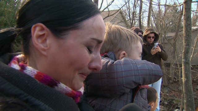 Parents mourn in Sandy Hook