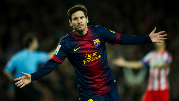 Messi curls home Barca