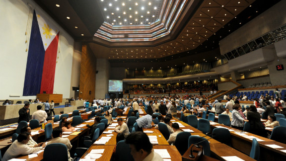 Members of the Philippines House of Representatives are shown in Quezon City, in suburban Manila, earlier this year.