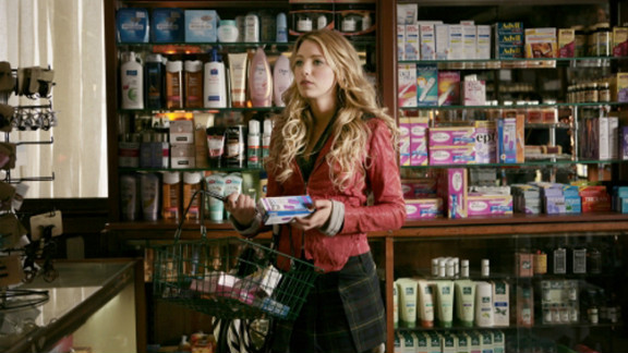 After Serena picks up a pregnancy test for Blair, juicy gossip leaks out about the seemingly prim Blair -- she