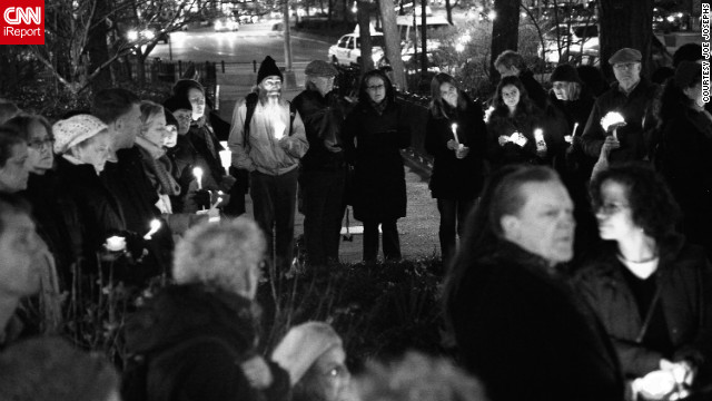 Vigils have been held across the U.S. in memory of those killed in Friday's shooting, such as this one in New York.