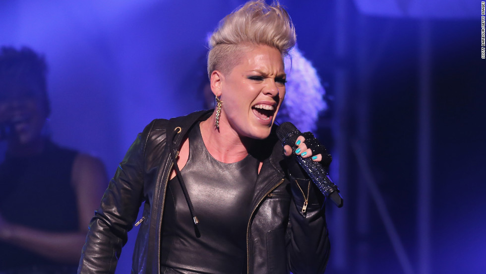 "Pink released ""Blow Me (One Last Kiss),"" the first single off her sixth studio album, ""The Truth About Love,"" in July. She <a href=""http://www.mtv.com/videos/misc/832106/blow-me-one-last-kiss-live.jhtml"" target=""_blank"">performed the song</a> at the 2012 MTV Video Music Awards in September with help from some dancing lips."