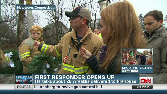 First responder opens up