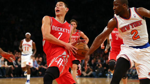 """<strong>Highest trending athlete: Jeremy Lin: </strong>Houston Rockets star Jeremy Lin was Google's highest trending athlete of the year. Lin, one of a very few Asian Americans in the NBA, was virtually unknown before he burst on to the New York Knicks side early in 2012. """"Linsanity,"""" the name given to the fervor surrounding him, was the 10th most used meme on Facebook in the U.S this year."""
