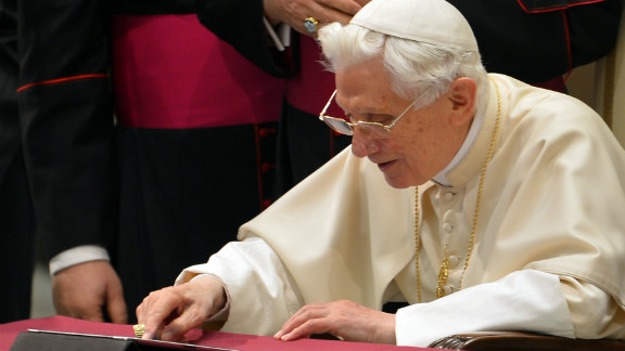 """<strong>Newcomer to Twitter: Pope Benedict: </strong>Pope Benedict joined Twitter as <a href=""""https://twitter.com/Pontifex"""" target=""""_blank"""" target=""""_blank"""">@ponitex</a>, sending his first tweet: <a href=""""https://twitter.com/Pontifex/status/278808536404852736"""" target=""""_blank"""" target=""""_blank"""">""""Dear friends, I am pleased to get in touch with you through Twitter. Thank you for your generous response. I bless all of you from my heart""""</a> on December 12.  At the time of writing he has more than 1.2 million followers after only nine tweets."""