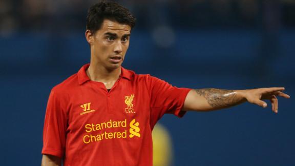 Spaniard Suso has made 13 appearances for English club Liverpool so far in the 2012/13 season
