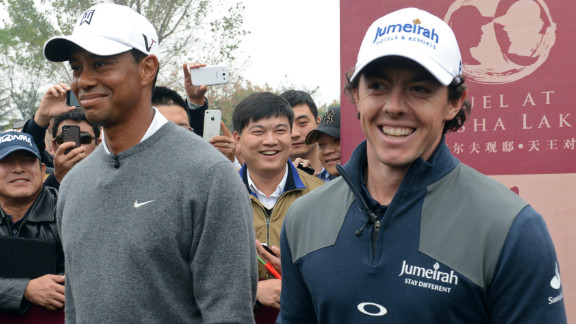 Tiger Woods is a 14-time major winner, while McIlroy became golf