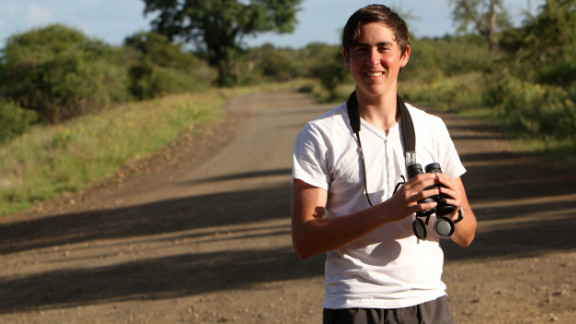 Sixteen-year-old Nadav Ossendryver has created Latest Sightings, a wildlife-tracking website that informs tourists about the whereabouts of animals in Kruger National Park, South Africa.