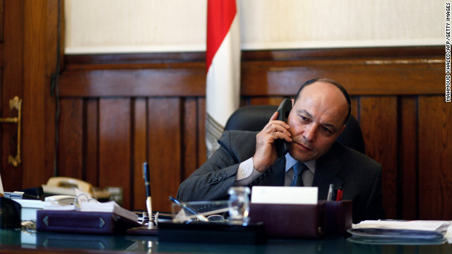 Egyptian prosecutor general Talaat Ibrahem Abdullah on his first day in office on November 24, 2012 in Cairo, Egypt.