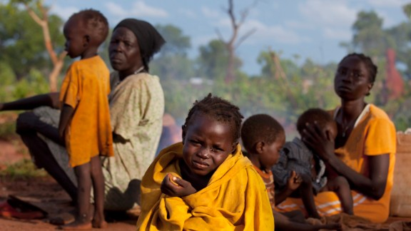 For more than a year, the Nuba people in South Kordofan have been facing attack from their own government. Almost 63,000 people have fled to the Yida refugee camp in South Sudan. Pictured is Asimara, aged three, who arrived at the camp with her family in July.