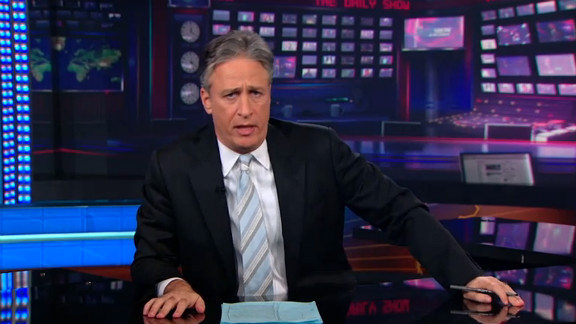 """The Daily Show"" has aired on Comedy Central since 1996.  Jon Stewart became host of the slightly re-named late-night program in 1999. It draws its comedy from current events."