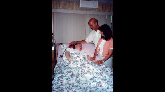 "Renowned self-help author Wayne Dyer and his wife, Marcelene, visiting Edwarda in 1996; Dyer wrote a book, ""A Promise Is A Promise,"" about Kathryn"