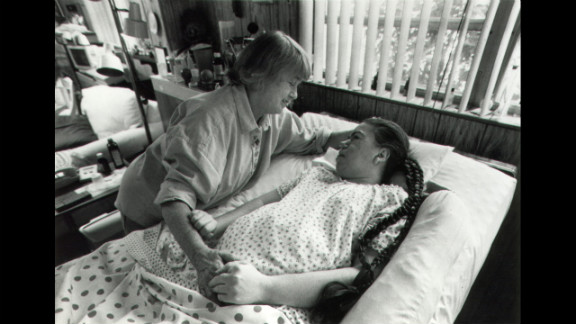 The family had a new room created for Edwarda in 1980. Her mother gave insulin shots, turned her daughter so bedsores wouldn