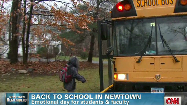 Emotional back to school in Newtown