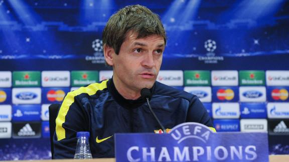 Tito Vilanova took over from all-conquering former Barcelona coach Josep Guardiola in June.