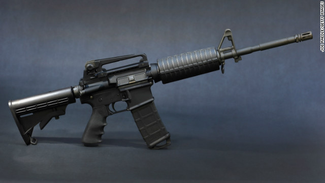 Semi-automatic rifles like this one are being marketed as a pathway to manliness.