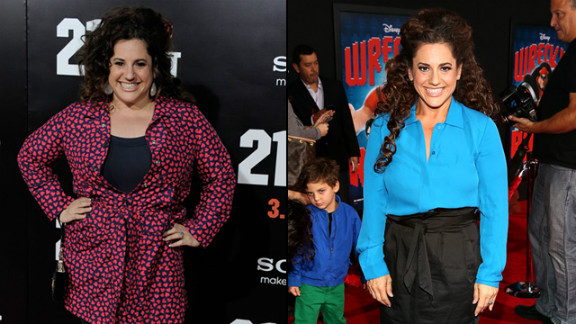 """There's no way Winokur could play """"Hairspray's"""" zaftig Tracy Turnblad these days. The Tony-award winning actress has dropped 60 pounds this year. And she isn't the only star who changed in 2012."""