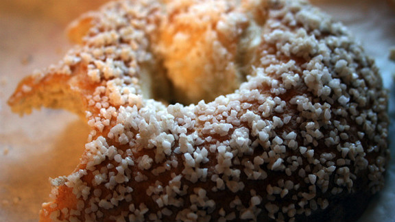 """Dunkin' Donuts' Salt Bagel: Is a bagel better for you than a donut? Not when the word """"salt"""" is in it. Dunkin's version packs 3,350 milligrams of sodium and 310 calories."""