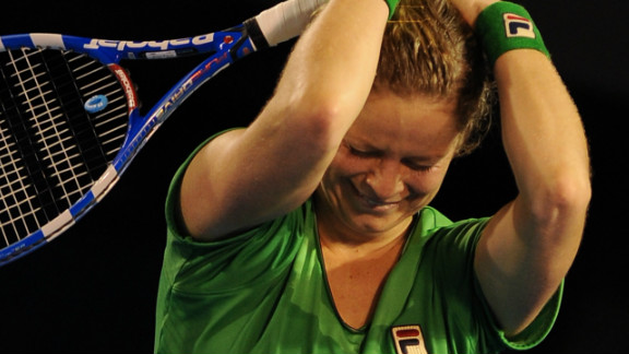 Clijsters enjoys popularity in Australia thanks to ex-boyfriend and male tennis star Lleyton Hewitt. She was overcome with emotion after defeating Li Na of China to clinch the 2011 Australian Open -- the fourth grand slam title of her career.
