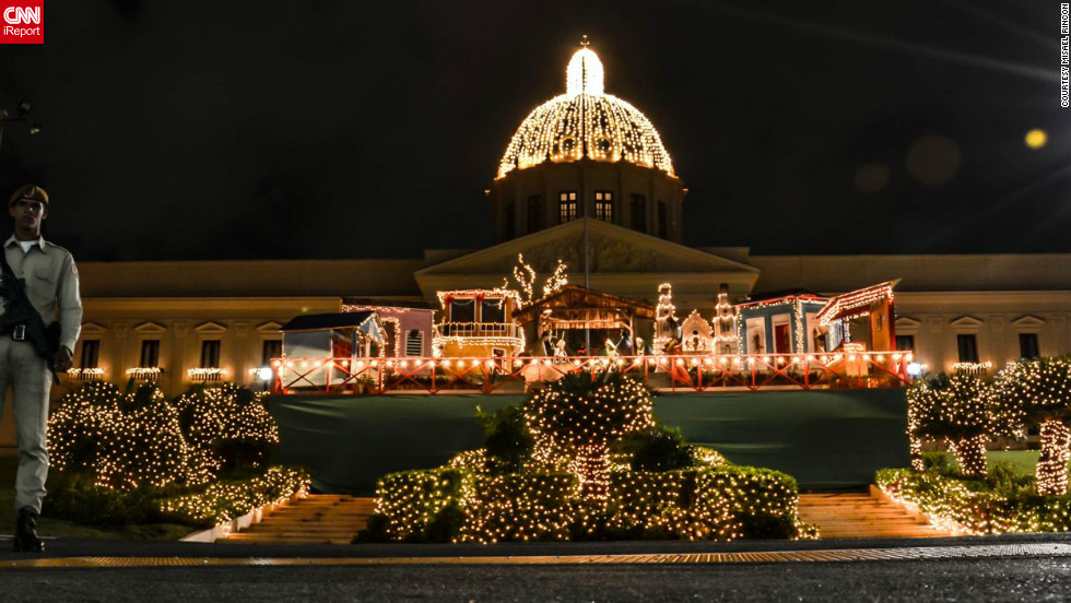 "Each year the beautiful neoclassical Placio Nacional building in Santo Domingo is given a Christmas makeover. This photo of the presidential palace was taken by <a href=""http://ireport.cnn.com/people/misael"" target=""_blank"">Misael Rincon</a>, a 31-year-old TV producer from the Dominican Republic."