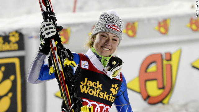 U.S. teenager Mikaela Shiffrin was overcome with emotion after winning her first ever World Cup race at the age of 17.