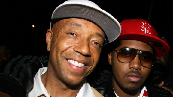 Def Jam founder Russell Simmons and Nas pose during the first Hip Hop Summit on Financial Empowerment in New York City in 2006. After Jay-Z was named president of Def Jam, he signed Nas to the label.